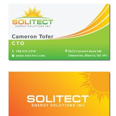 Logo and Biz card for solar tech company by JhonDesign