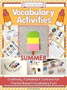 Try these fun Summer vocabulary activities for kids!