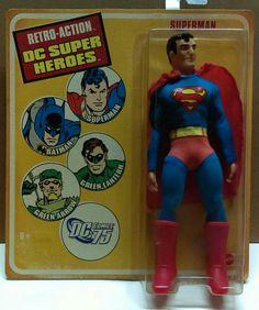 DC MEGO Retro Superman figure. Mattel Toy's