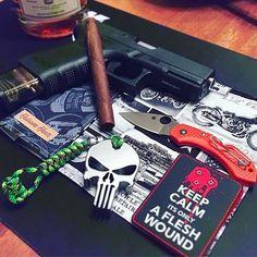 Tactical Tuesday | @bertsedc #cigarsandguns #cigars #guns #2a #tacticaltuesday #edc #nowsmoking #cigarlife #puffpuffpewpew