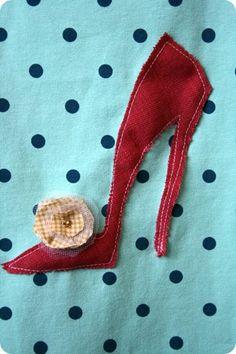 adorable shoe applique - vir @Andrea Potgieter se eendag-presentjie?