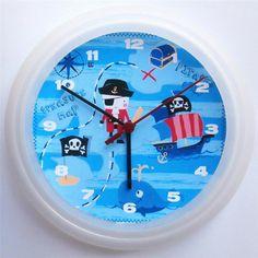 BRAND-NEW-KIDS-WALL-CLOCK-NEXT-PIRATE-SHIP-FREE-P-P New Kids, Pirates, Clock, Brand New, Ship, Bedroom, Wall, Free, Ebay