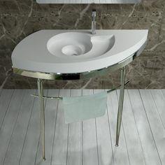 Ce plan vasque design très tendance, formant une spirale, fera de votre salle de bain la star de votre maison !