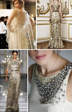 gold beaded wedding dresses