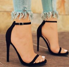 Your high heels questions answered. What is the difference between stilettos and high heels. Why are high heels called pumps. Does wearing high heels tone your legs. Can wearing heels cause hip pain Stiletto Heels, Shoes Heels, Heels Outfits, Stilettos, 20s Outfits, Neon Shoes, Dress Shoes, Pointed Heels, Strappy Shoes
