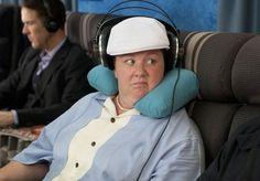"""Bridesmaids""  Melissa McCarthy.  She cracks me up the entire movie.  ""non-air marshal John"""