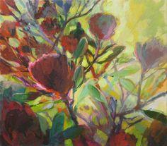 Jenny Parsons, Back lit Protea Plant Painting, Painting & Drawing, Protea Art, South African Artists, Flower Art, Art Flowers, Flower Pictures, Botanical Art, Art Tutorials