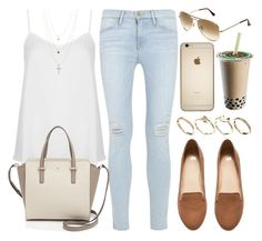 """Style #8873"" by vany-alvarado ❤ liked on Polyvore featuring Topshop, Frame Denim, H&M, Kate Spade, Ray-Ban and ASOS"