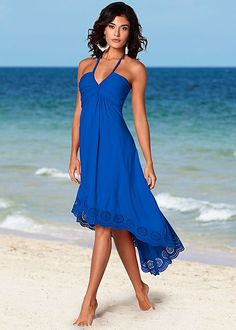 Braided halter hi-lo dress in the VENUS Line of Dresses for Women