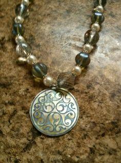 Items similar to Swarovski Pearl and Czech Glass Necklace & Earrings Set on Etsy Glass Necklace, Swarovski Pearls, Czech Glass, Earring Set, Buy And Sell, Gemstones, Jewellery, Bracelets, Silver