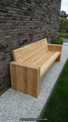 bank in lariks hout bank in lariks hout bench in larch wood bench in larch wood Outdoor Furniture Bench, Diy Garden Furniture, Wood Pallet Furniture, Woodworking Furniture, Rustic Furniture, Pallet Couch, Outdoor Wood Bench, Modern Furniture, Wood Benches