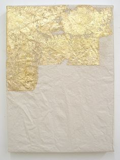 Gold leaf on canvas. // Carrie Pollack, Present 3, 2010.