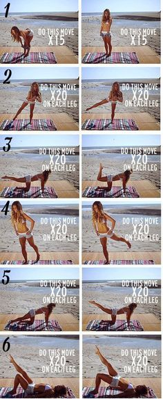 6 exercises that will help you to stay fit on vacations!! Enjoy the beach ;)