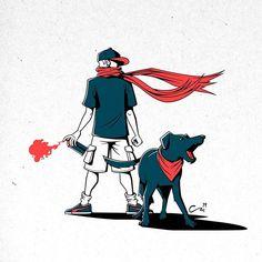 Negro Matapacos | El arte detrás de un símbolo de revolución social Blog Tumblr, Protest Posters, Tumblr Wallpaper, Kokoro, Decorating Blogs, Autocad, Dog Art, Social Platform, Art World