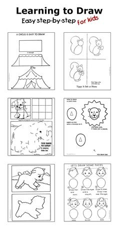How to draw - Step by step drawing for kids - Dozens of pages!
