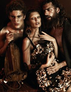 INTERVIEW GERMANY Bianca Balti, Sam Webb, Aiden Shaw, Chris Petersen, Chris B. & Christos in Baroque Fever by Giampaolo Sgura.