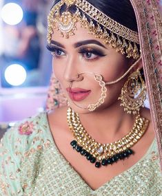 On her wedding day, everything worn by the bride is carefully planned and full of meaning. There are traditions and superstitions especially attached to bridal jewelry. Indian Wedding Bride, Indian Wedding Jewelry, Bridal Jewelry, Nath Bridal, Bridal Nose Ring, Nath Nose Ring, Nose Rings, Nose Ring Jewelry, Bridal Poses