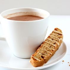 Cinnamon Maple Pecan Biscotti. Because Fall cannot come fast enough.