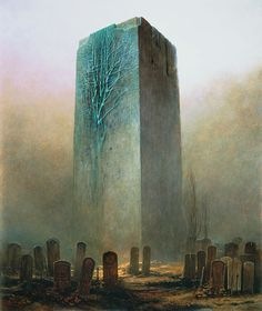 © Zdzisław Beksiński    visit his site..his work is..odd..but some are hauntingly amazing!