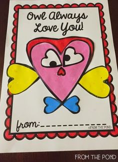 Owl Always Love You Printable Cut and Paste Valentine's Day Freebie