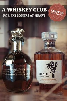 Whiskey Tasting boxes, Private bottlings and More than 15,000 Spirits. Join the Club! #Whiskey #Whiskeyclub #Speakeasy #Hibiki #Blantons