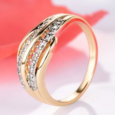 Female Wedding Bands Gold-Color Engagement Ring  Price: 10.00 & FREE Shipping  #clothing Engagement Ring Prices, Colored Engagement Rings, Antique Wedding Rings, White Gold Wedding Rings, Silver Ring, Wedding Ring Box, Wedding Ring Designs, Womens Wedding Bands, Wedding Rings For Women