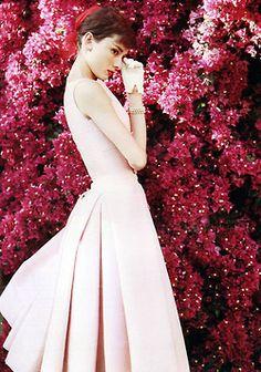 fashion vintage audrey hepburn 1950s pink old hollywood my scan