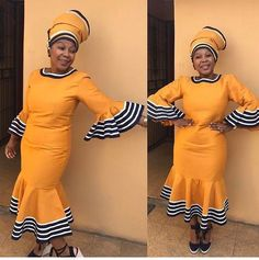 Lovely inspired dress by loulou_regal_style Traditional Dresses Designs, African Traditional Wedding Dress, Traditional African Clothing, Traditional Fashion, Traditional Outfits, Traditional Weddings, Xhosa Attire, African Attire, African Wear