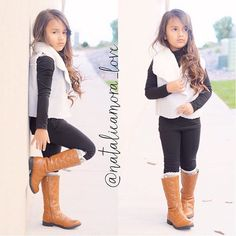 How cute is this grey sheepish vest and ripped leggings perfect for fall Available at @modernechild enter code Natalie at checkout and get FREE SHIPPING!!! #ootd