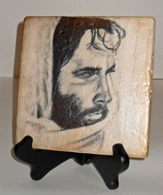 Jesus Tiles - We will be making these for our Women's Ministry Christmas Party Handmade Gifts & Crafts night. Made similarly to tile coasters, instructions found here: http://cheapcraftymama.com/travertine-photo-coasters/ These are made using a larger tile (natural/tumbled/travertine tiles), use any customized photo or print desired. Once print is dried onto tile, I used a copper ink stamp pad to swipe the edges.
