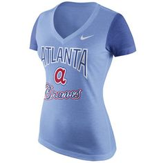 Women's Atlanta Falcons Nike Gray Blocking Tri-Blend 3/4 Sleeve Raglan T-Shirt