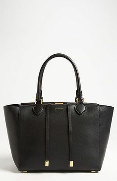 NWT Authentic Michael Kors 'Miranda - Large' Tote Bag Black