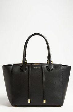NWT Authentic Michael Kors 'Miranda - Large' Tote Bag Black