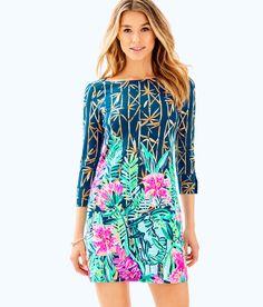 NWT Lilly Pulitzer Sophie UPF50 Whisper Blue Yeah Buoy Jersey Tunic Dress MEDIUM
