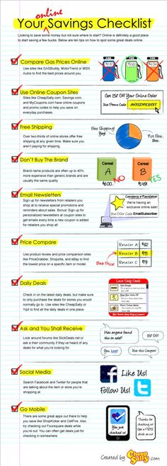 Your Online Savings Checklist | Visual.ly
