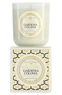 Voluspa 'Maison Blanc - Gardenia Colonia' Boxed Candle available at #Nordstrom