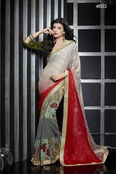 Fabric - Georgette Blouse Fabric - DhupianSaree color - MulticolorSaree Length - 5.5 metersBlouse Length - 0.8 metersType - Printed SareeWash Care: Hand Wash Only And Dry Wash OnlyGet yourself look like a Diva in this impressive Multicolor printed Saree with Georgette fabric. Specially designed for today's modern ladies, the adorable prints on the Saree are just magnificent to watch. You will also love the blouse which perfectly matches up with the Saree. Hurry up, only limited editions ...
