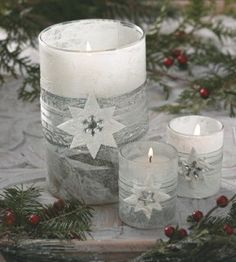 Silver Star DIY Candle Holders | Christmas Crafts | Candle Crafts | Love the Country
