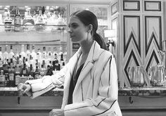 Here's something new from J. Mendel Paris, from desk to dinner, in black and white.