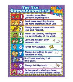 Carson - Dellosa The Ten Commandments for Kids Chart 6pk