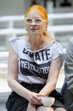 suicideblonde:    Vivienne Westwood before the Vivienne Westwood Red Label Spring/Summer 2013 show during LFW, September 16th