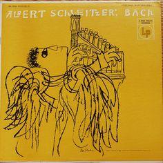 Ben Shahn 1955 Albert Schweitzer - Bach: Organ Music Vol.IV (LP) [Columbia ML-5040] #albumcover #illustration