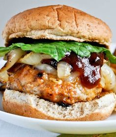 BBQ Chicken Burgers | How Sweet It Is