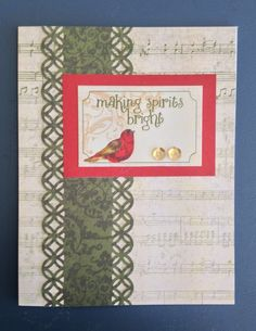 Yuletide Carol, CTMH, 13 cards from Compliments & 1/2 paper pack