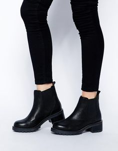 4798bddfe73c Image 1 of ASOS ROCKET SCIENCE Leather Ankle Boots Black Ankle Boots