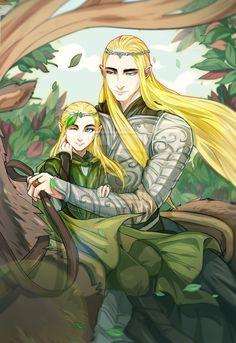 "Young Legolas and Thranduil by navy-locked.deviantart.com on @deviantART - From ""The Hobbit"""