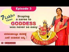 e narada Saree draping for Varamahalakshmi by Mamatha Colorful Rangoli Designs, Pooja Room Design, Drape Sarees, Puja Room, Simple Rangoli, Festival Decorations, Episode 3, Festivals, Tantra
