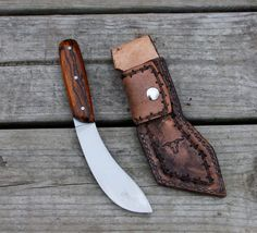 Speh Custom Knives - Buffalo Skinning Knife Belt Knife, Dagger Knife, Knife Sheath, Cool Knives, Knives And Swords, Knife Template, Knife Patterns, Craft Patterns, Butcher Knife