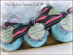Aquamarine Bath Bomb Abbey James Spa gift party by AbbeyJames, $4.95