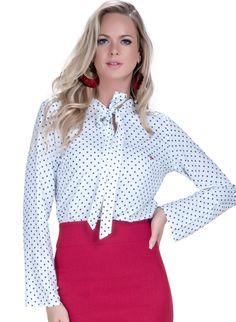 dec106558 12 melhores imagens de Camisa Feminina de Poá